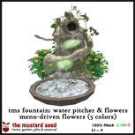 tms fountain_ water pitcher & flowers (5 colors)